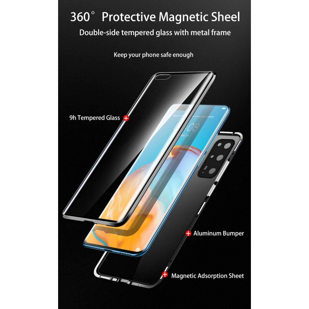 360 Magnetic case Camera Protection за Huawei P40 Pro
