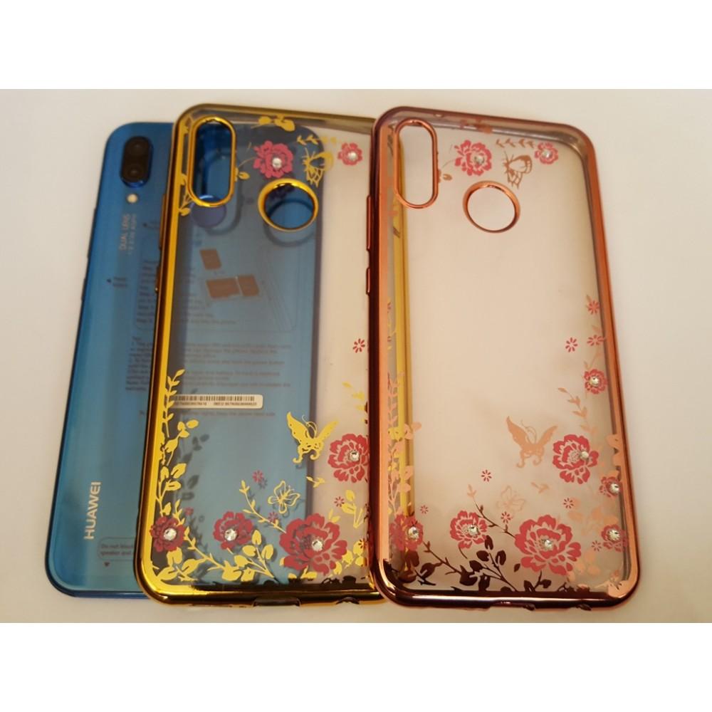 Силиконов гръб цветя и пеперуди за Huawei P20 Lite