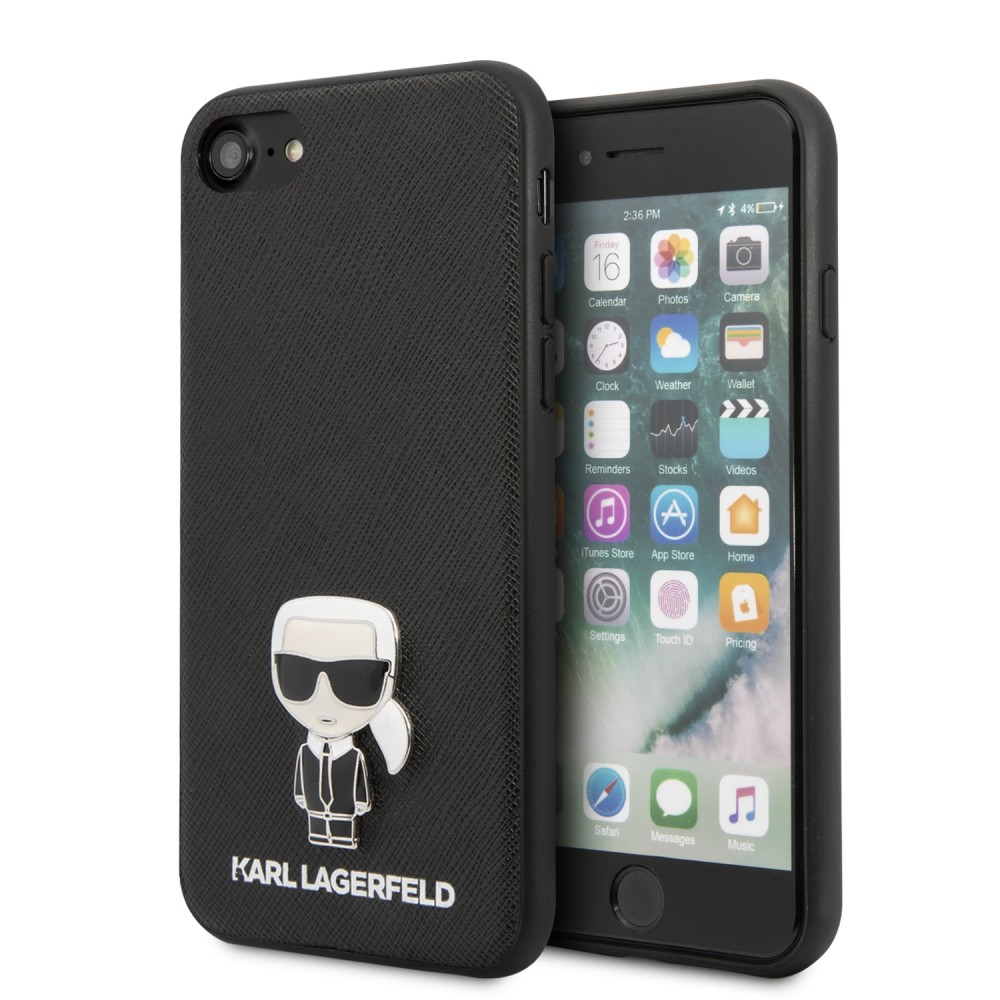 Гръб Karl Lagerfeld Saffiano Iconic за Apple iPhone 7 / iPhone 8