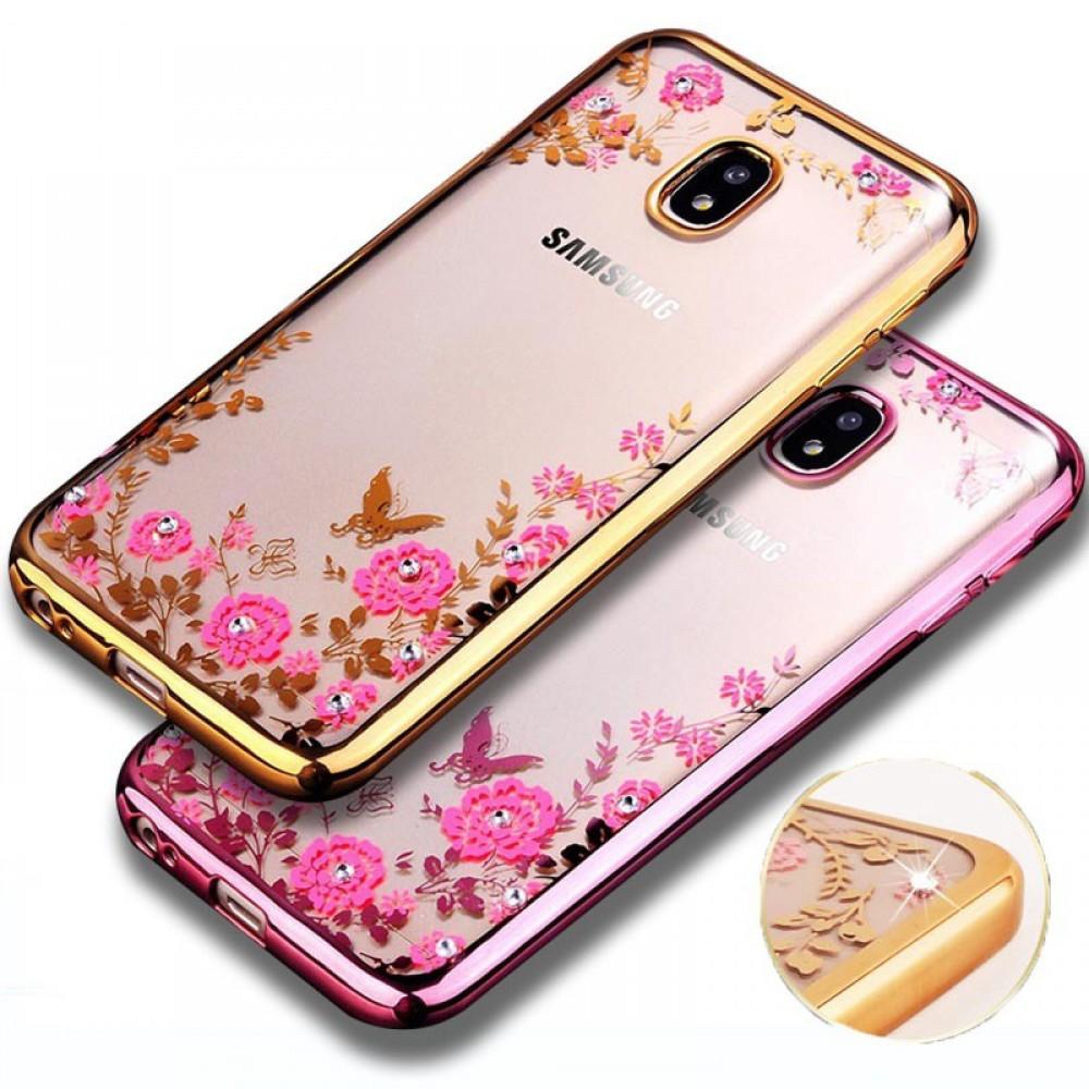 Силиконов гръб цветя и пеперуди за Nokia 3.1