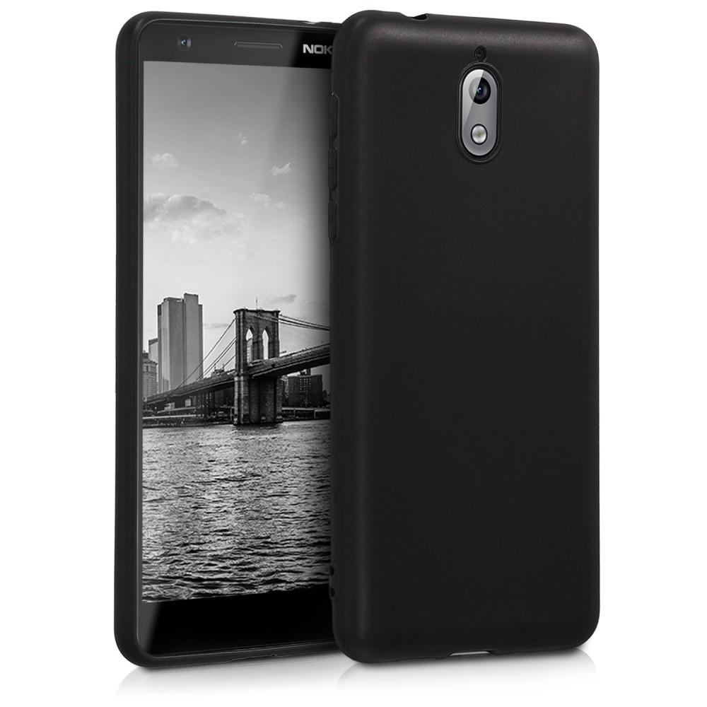 Черен силиконов гръб Matt за Nokia 3.1