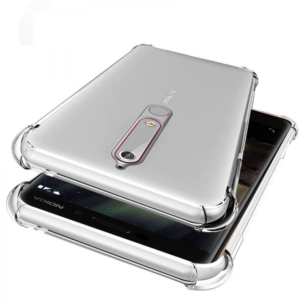 Ултра тънък силиконов гръб с подсилени ъгли за Nokia 3.1 Plus