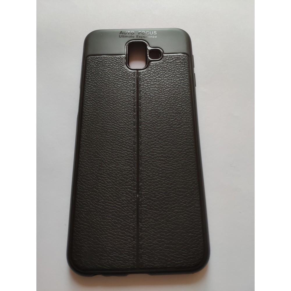 Силиконов гръб Auto focus leather шев за Samsung Galaxy J6+
