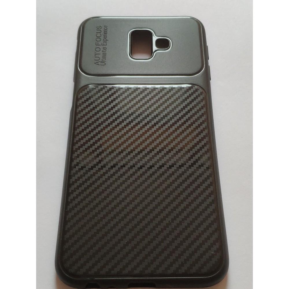 Силиконов гръб Shine carbon за Samsung Galaxy J6+