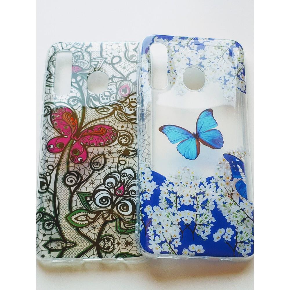 Силиконов гръб Пеперуди за Samsung Galaxy A20 / Samsung Galaxy A30