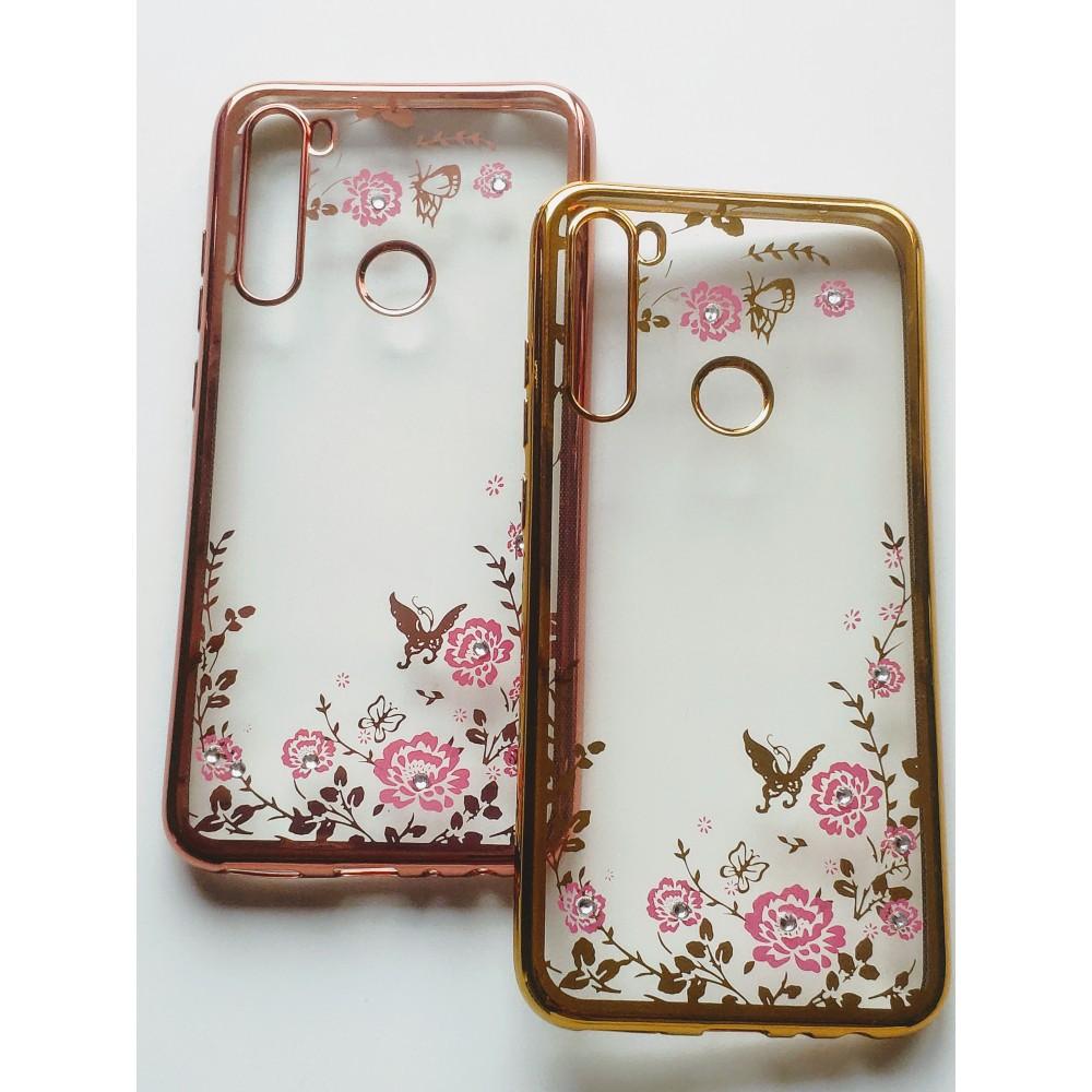 Силиконов гръб цветя и пеперуди за Xiaomi Redmi Note 8
