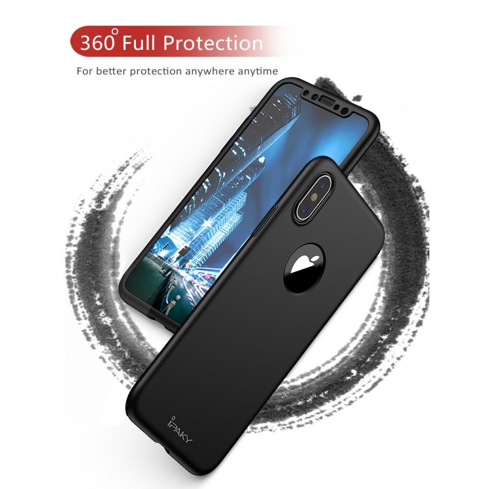 Твърд гръб iPaky 360° + стъклен протектор за Huawei Honor 8x