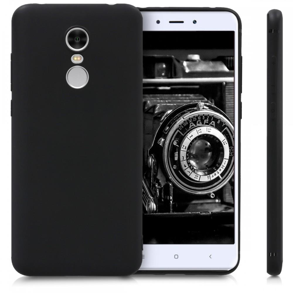 Черен силиконов гръб Matt за Xiaomi Redmi 5