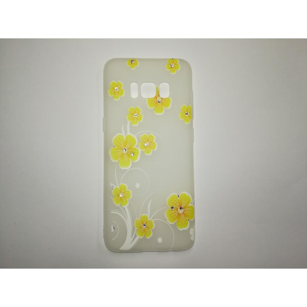 Гръб Fashion Жълти цветя за Samsung Galaxy S8